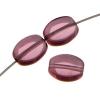 Glass Bead Flat Oval 8X6mm Strung Amethyst